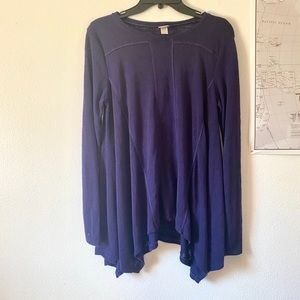Blue Long Sleeve Lounge Top